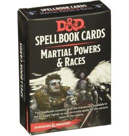 Gale Force Nine D&D 5e Spellbook Cards Martial