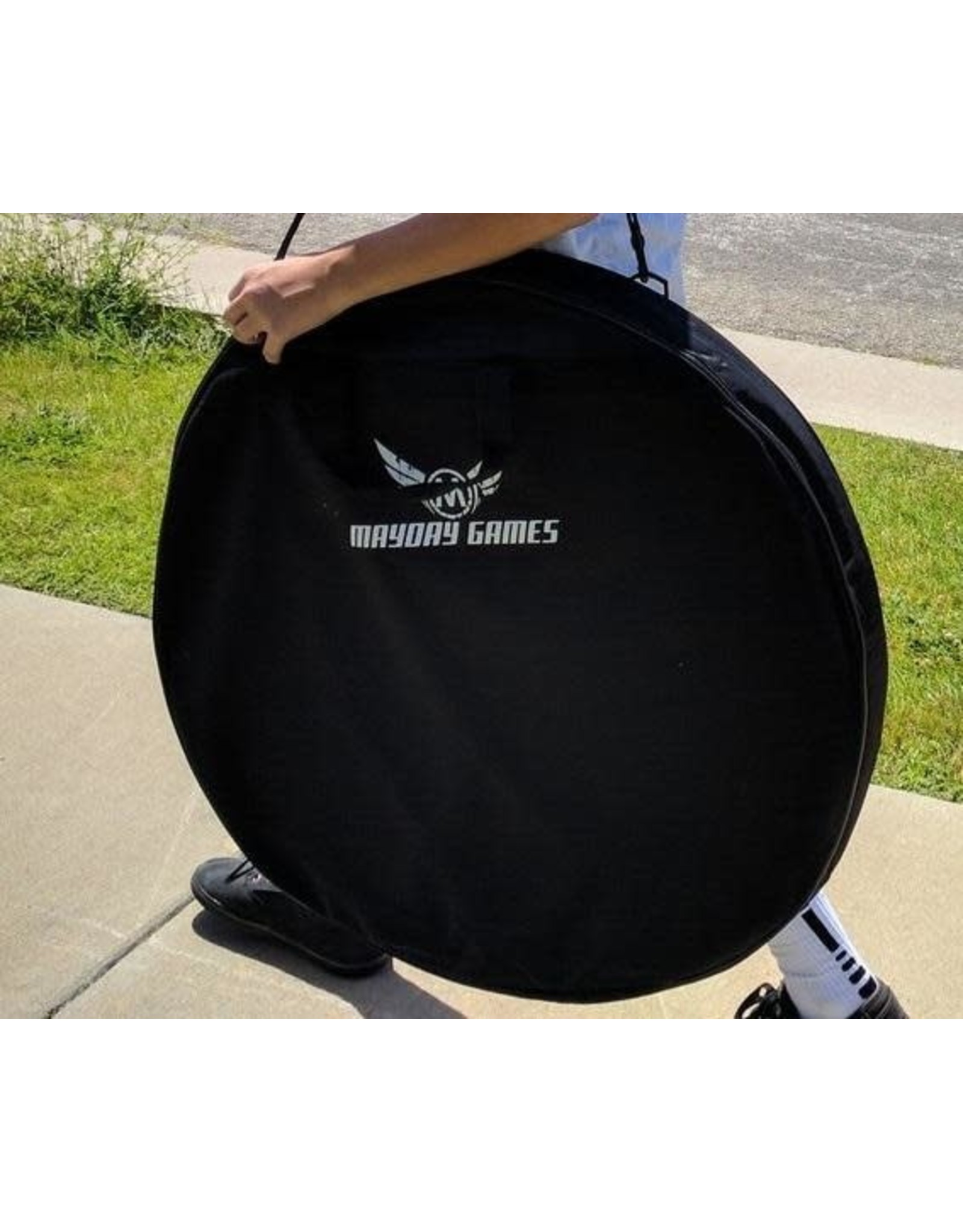 Mayday Games Delux Crokinole Carrying Case Black Round