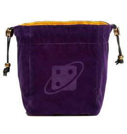 Sirius Dice Dice Bag Reversible - Purple and Gold Brass Clasp