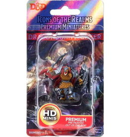 Wizkids Dungeons & Dragons Icons of the Realms Premium Figures: W1 Dragonborn Male Fighter