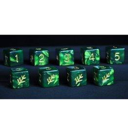 Infinite Black Elder Dice 9d6 Die Set: The Elder Sign