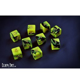 Infinite Black Elder Dice 9d6 Die Set: The Yellow Sign of Hastur