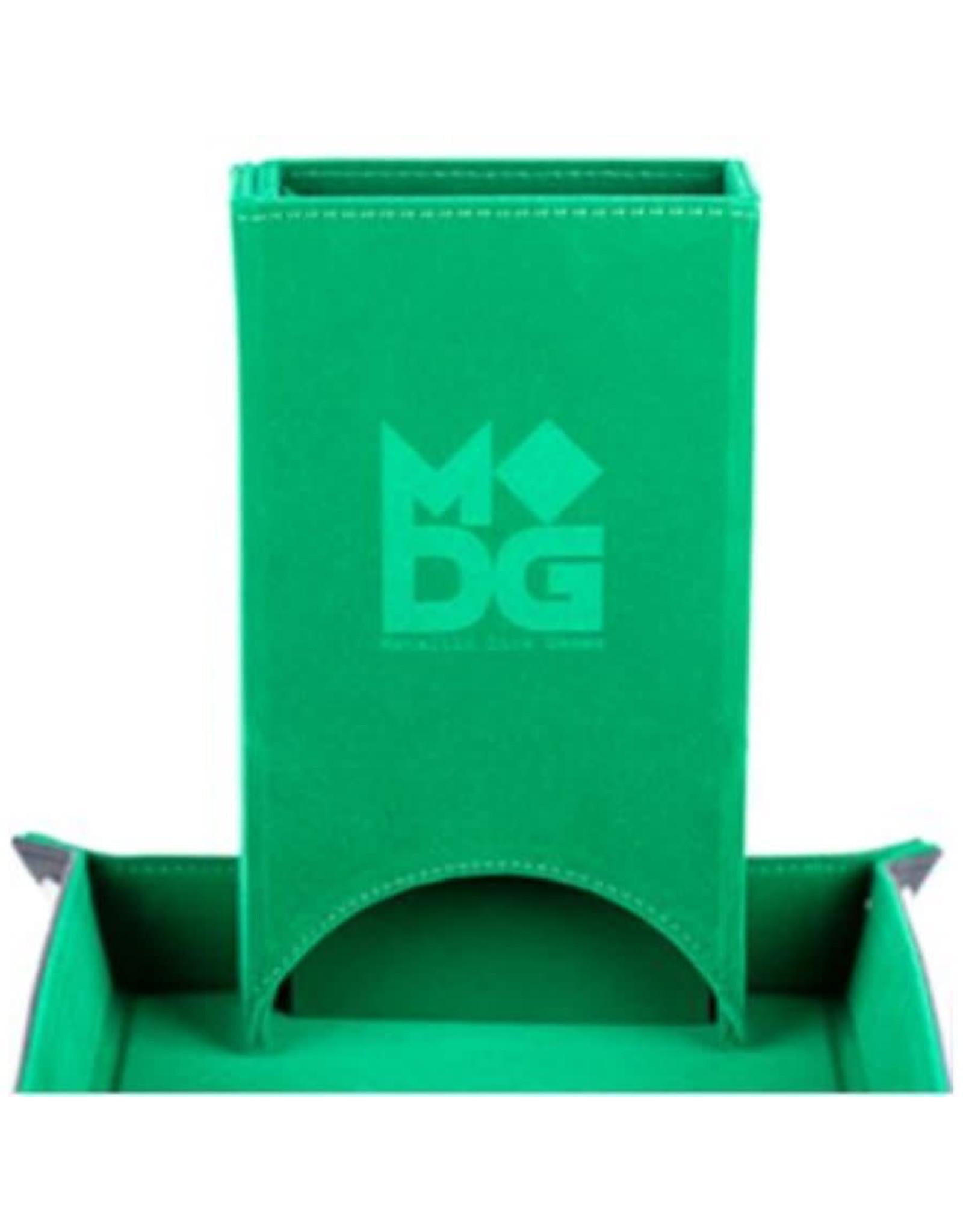Metallic Dice Games Fold Up Velvet Dice Tower: Green