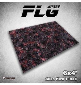 Frontline Gaming Mats: Alien Hive Red 4x6'