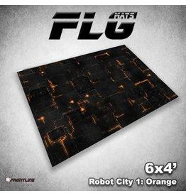 Frontline Gaming Mats: Robot City v1 Orange 4x6'