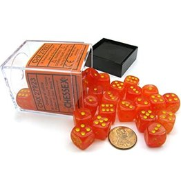 Chessex Ghostly Glow Orange/Yellow 12mm D6 (36)