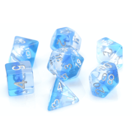 HD Dice, LLC. Gradient Transparent Blue Poly Dice (7)