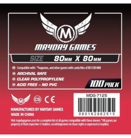 Mayday Games MG Medium Square Card Sleeves 80X80mm (100)