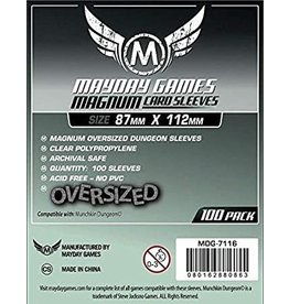 Mayday Games MG Oversized Magnum Sleeves 87x112 (100) *Silver*