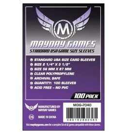 Mayday Games MG Standard USA Sleeves (100) *Purple*