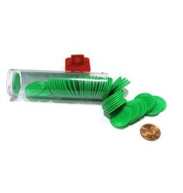 Koplow Games Mini Poker Chip Tube - Green (50)