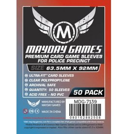 Mayday Games Premium Police Precinct Sleeves 63.5mm X 92mm (50)