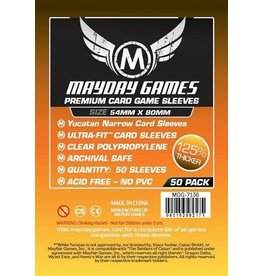 Mayday Games Premium Yucatan Narrow Card Sleeves (100) 54 X 80 MM