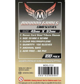 Mayday Games Roman sized Card Sleeves 49mm x 93mm