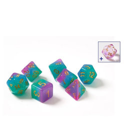 Sirius Dice RPG Dice Set (7): Blue Aurora Semi-Transparent Resin