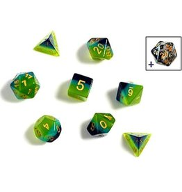 Sirius Dice RPG Dice Set (7): Green , Blue Translucent