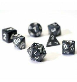 Sirius Dice RPG Dice Set (7): Pearl Charcoal Grey Acrylic