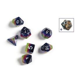 Sirius Dice RPG Dice Set (7): Pink, Green, Blue
