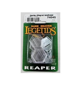 Reaper Miniatures Slot Hex (clear with smal peg) (10)