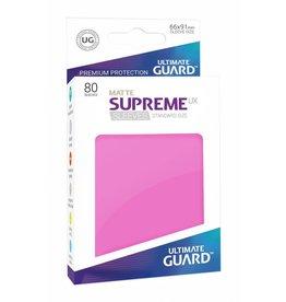 Ultimate Guard Supreme Sleeves Matte Pink (80)