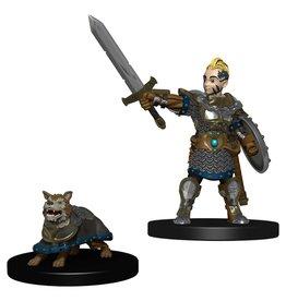 Wizkids Wardlings Minis Boy Fighter & Battle Dog