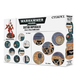 Games Workshop Warhammer 40k Sector Imperialis 25mm & 40mm Bases