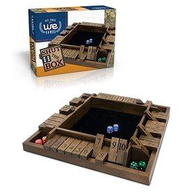 Wood Expressions WE Games 4-Player Shut the Box - Travel Size - 8 inches