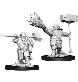Wizkids Unpainted Miniatures: W11 Male Dwarf Cleric