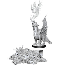Wizkids Unpainted Miniatures: W11 Gold Dragon Wyrmling & Small Treasure Pile