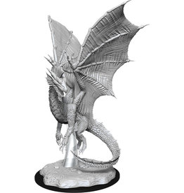 Wizkids Unpainted Miniatures: W11 Young Silver Dragon