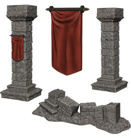 Wizkids Deep Cuts Unpainted Miniatures: W11 Pillars & Banners