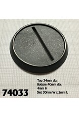 Reaper Miniatures 40mm Round Lipped Bases Plastic