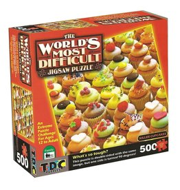 TDC Puzzles World's Most Difficult Puzzle: Killer Cupcakes Double-Sided 500 pc