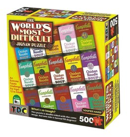 TDC Puzzles World's Most Difficult Puzzle: Campbell's Souper HardDouble-Sided 500 pc
