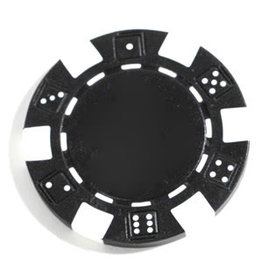 Wood Expressions Clay Poker Chips: Black (50)