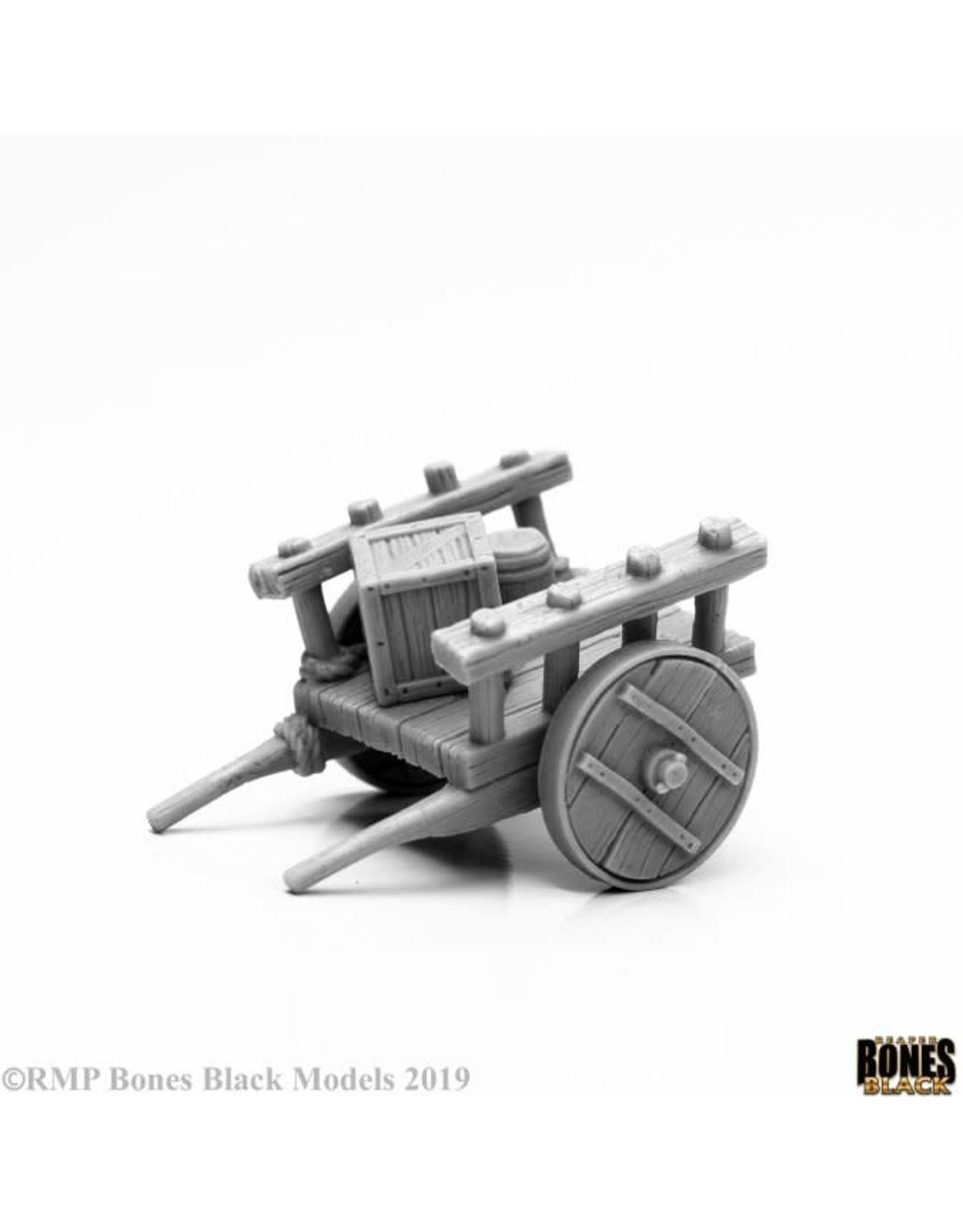 Reaper Miniatures Bones Black: Townsfolk: Cart