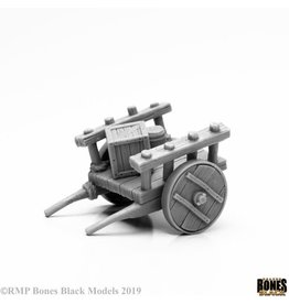 Reaper Miniatures Bones Black: Townsfolk: Cart