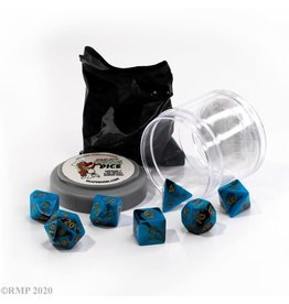 Reaper Miniatures Pizza Dungeon Dice: DUAL DICE - BLUE & BLACK