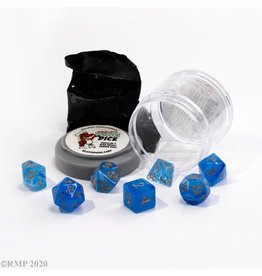 Reaper Miniatures Pizza Dungeon Dice: DUAL DICE - GEM BLUE