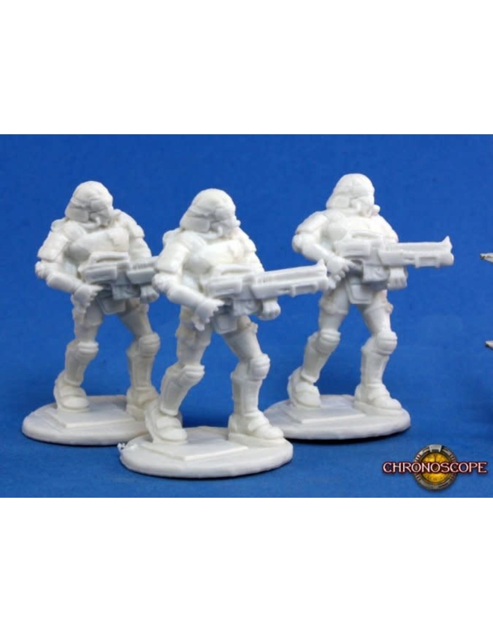 Reaper Miniatures Bones: Nova Corp: Rifleman (3)