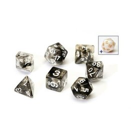 Sirius Dice RPG Dice Set (7): Black Cloud Transparent Resin