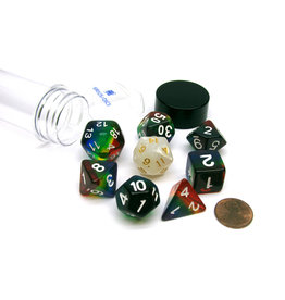 Sirius Dice RPG Dice Set (7): Rainbow Translucent Resin
