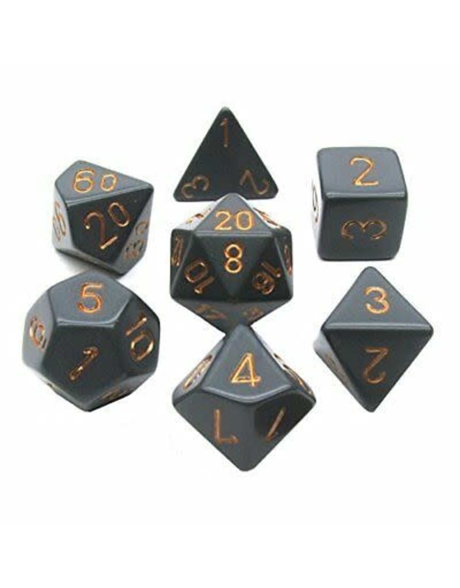 Chessex Opaque Poly Dark Grey/copper (7)