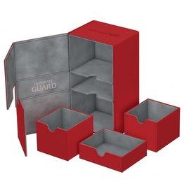 Ultimate Guard Twin Flip'n'Tray Xenoskin Deck Case 200+ Red