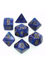 Chessex Lustrous Polyhedral Purple/gold 7-Die Set