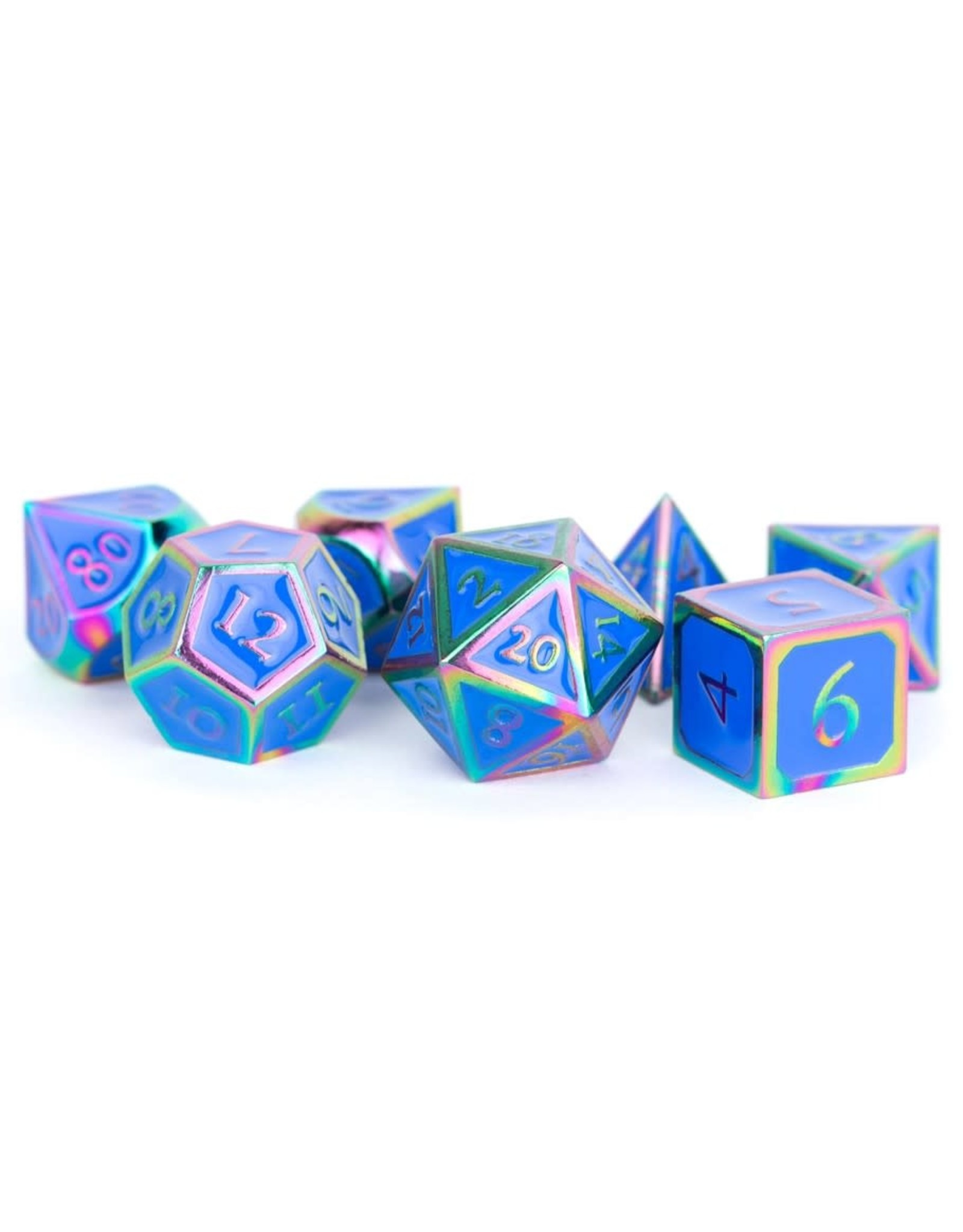 Metal Poly 7: Rainbow w/blue Enamel