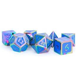 Metal Poly 7: Rainbow w/blue Enamel