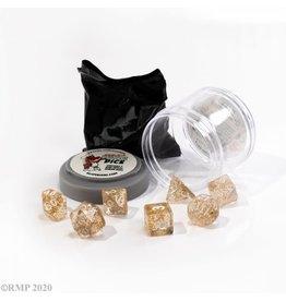 Reaper Miniatures Pizza Dungeon Dice: BOSS DICE - GLITTER GOLD