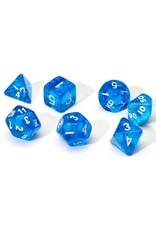 Sirius Dice RPG Dice Set (7): Blue Translucent Resin