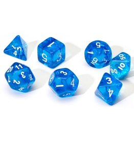 Sirius Dice RPG Dice Set (7): Blue Translucent Resin